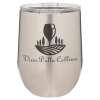 Double Wall Insulated Stainless Steel Stemless Wine Glass -Stainless Steel Promotional Mugs