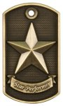 3-D Star Performer Dog Tag Medal_ 3-D Dog Tag Series