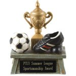 Vintage Trophy Award -Soccer 3D Resin Trophy Awards