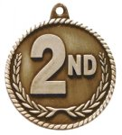 High Relief Medal-2nd Place Baseball Trophy Awards