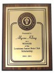 Walnut finished plaque BETA CLUB AWARDS