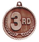 High Relief Medal -3rd Place  Cheerleading Trophy Awards
