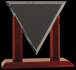 Diamond Triangle Clear Glass Award Clear Glass Awards