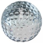 Crystal Golf Ball Paperweight Clear Optical Crystal Awards