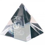 Crystal Pyramid Paperweight Clear Optical Crystal Awards