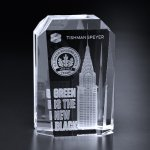 Bankston Award Clear Optical Crystal Awards