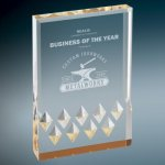 Diamond Mirage Acrylic -Gold Colored Acrylic Awards