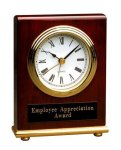 Rosewood Piano Finish Rectangle Desk Clock Desk Clocks