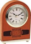 Rawhide Leatherette Arch Desk Clock Desk Clocks