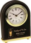 Black Leatherette Arch Desk Clock Desk Clocks