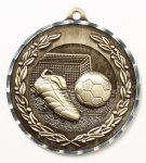 Diamond Cut Medal - Soccer Diamond Cut Medal Awards