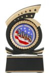 Gold Star Award -Mylar Holder Gold Star Resin Trophy Awards
