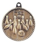 High Relief Medal -Bowling  High Relief Medallion Awards