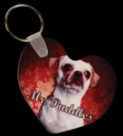 Heart Keychain with Ring and Fastener Key Rings