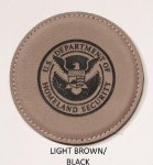 Laser Leather Individual Round Coasters Kitchen Gifts