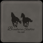 Leatherette Square Coaster -Gray Kitchen Gifts