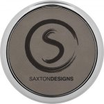 Leatherette Round Coaster with Silver Edge -Gray  Kitchen Gifts
