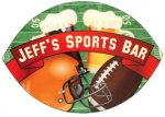 Football Shaped Hardboard Coaster Kitchen Gifts