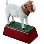 Goat Resin Award Mascot Resin Trophy Awards