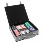 Leatherette Poker Gift Set -Gray Misc. Gift Awards
