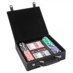Leatherette Poker Gift Set -Black/Gold Misc. Gift Awards