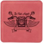 Leatherette Square Coaster -Pink Misc. Gift Awards