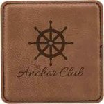 Leatherette Square Coaster -Dark Brown Misc. Gift Awards