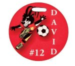 Glossy Round Sport Bag Tag Misc. Gift Awards