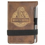 Leatherette Notepad/Pen -Rustic/Gold Misc. Gift Awards