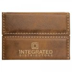 Leatherette Hard Business Card Holder -Rustic/Gold Misc. Gift Awards