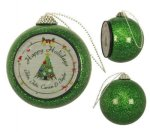 Green Glitter Ornament Ornaments