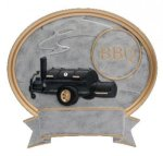 Legend Oval Award -BBQ Grill Oval Resin Trophy Awards