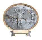 Legend Oval Award -Track & Field Oval Resin Trophy Awards