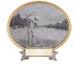 Legend Oval Award -Golf Oval Resin Trophy Awards