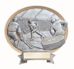 Legend Oval Award -Ice Hockey Oval Resin Trophy Awards