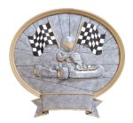 Legend Oval Award -Go-Kart Oval Resin Trophy Awards