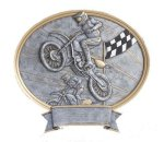 Legend Oval Award -Motocross Oval Resin Trophy Awards