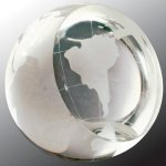 Crystal Globe Paperweight Paper Weight Crystal Awards