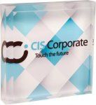 Full Color Acrylic Square Paperweight Paper Weights