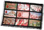 9 Panel Customized Afghan Photo Gift Items