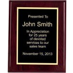 Piano Finish, Square, Red Piano Finish Plaques