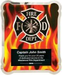 Firefighter Vertical Flames Hero Plaque Recognition Plaques