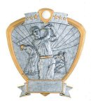 Signature Series Shield Award -Golf Signature Shield Resin Trophy Awards