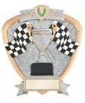 Signature Series Shield Award -Racing Flags Signature Shield Resin Trophy Awards