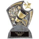 Large Spin Award -Cheer Spin Resin Trophy Awards