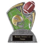 Large Spin Award -Football Spin Resin Trophy Awards
