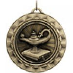 Spinner Medals -Lamp of Knowledge  Spinner Medal Awards