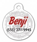 Circle Pet Tag Street Tag Gifts