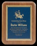 Plaque with Diamond Plate Award Walnut Plaques
