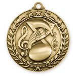 Wreath Medal -Music Wreath Antique Medal Awards